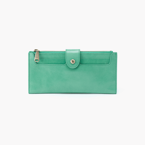 Dunn Light Green Leather Large Wallet