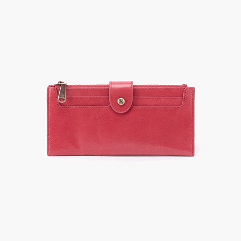 Dunn Pink Leather Large Wallet
