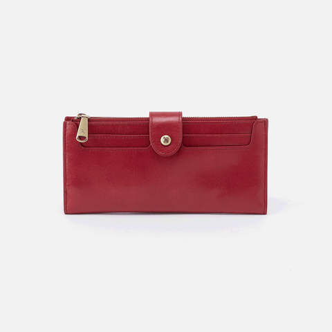 Dunn Red Leather Large Wallet