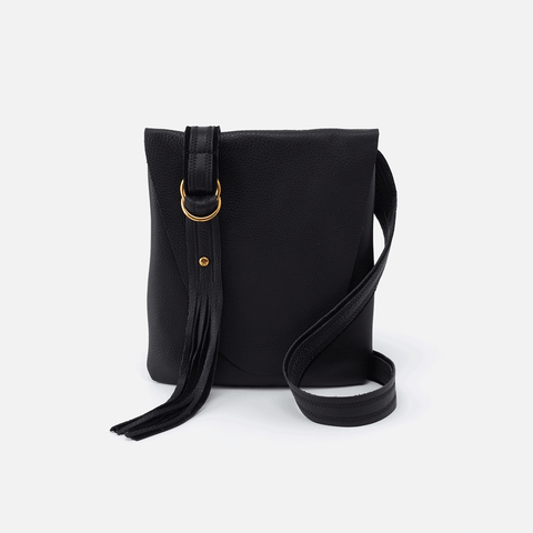 Echo Black Leather Crossbody