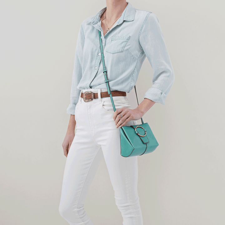 Elan Seafoam Leather Crossbody