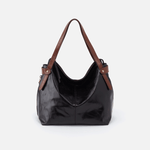 Elegy Black Leather Satchel