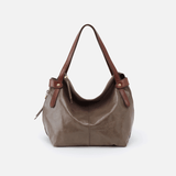 Elegy Grey Leather Satchel