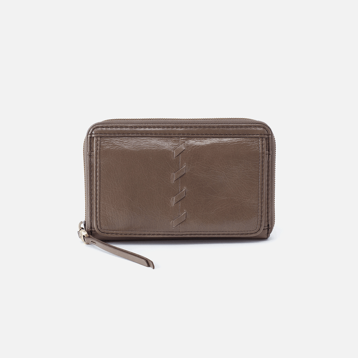 Elm Grey Leather Wallet