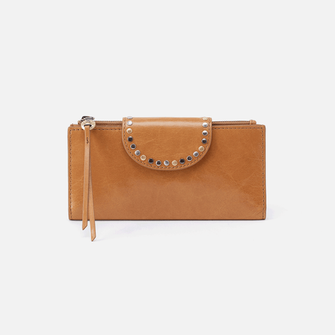Elsa Cognac Brown Leather Wallet