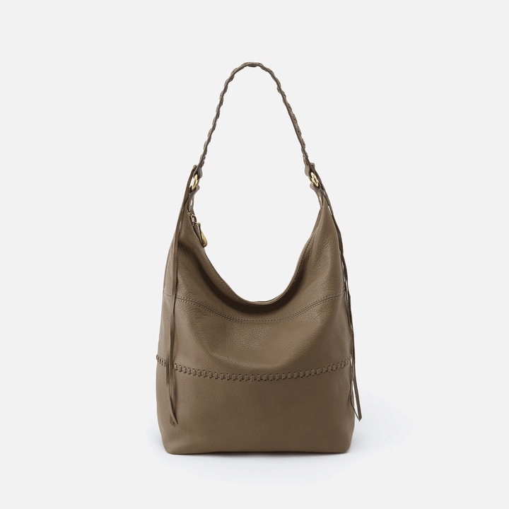 Entwine Grey Leather Hobo