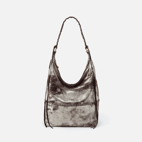 Entwine Silver Leather Hobo