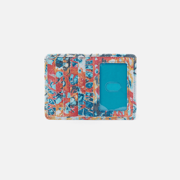 Euro Slide Summertime Abstract Leather Credit Card Wallet