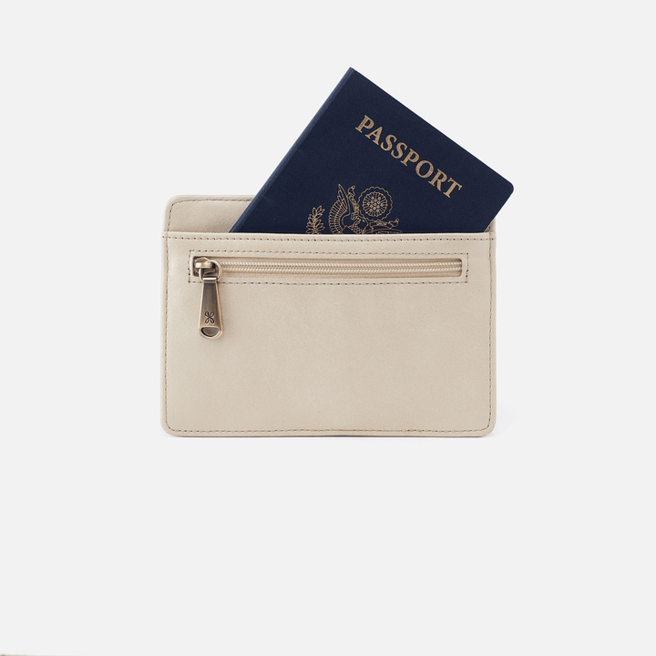 Euro Slide Sandshell Leather Credit Card Wallet