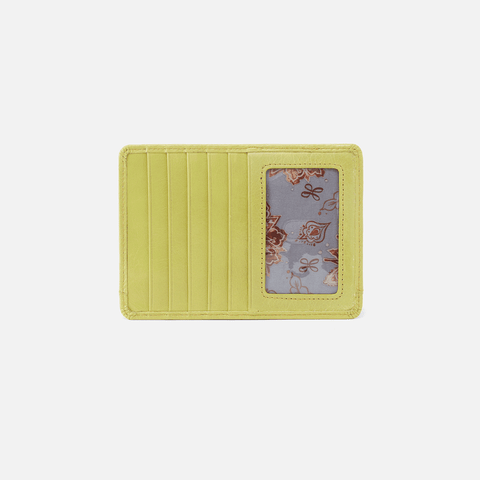 Euro Slide Lemongrass Leather Credit Card Wallet