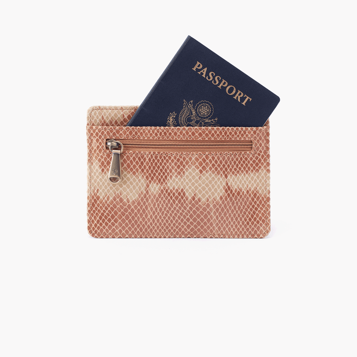 Euro Slide Print Leather Passport Wallet