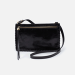 Evoke Black Leather Crossbody