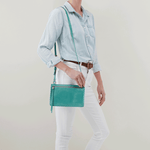 Evoke Seafoam Leather Crossbody