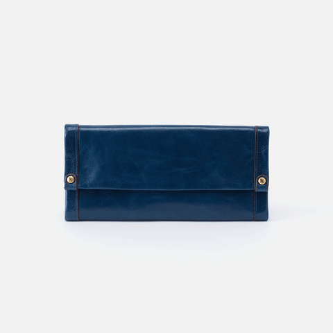 Fable Blue Leather Large Wallet