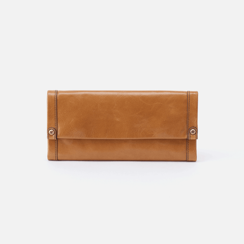 Fable Cognac Brown Leather Large Wallet