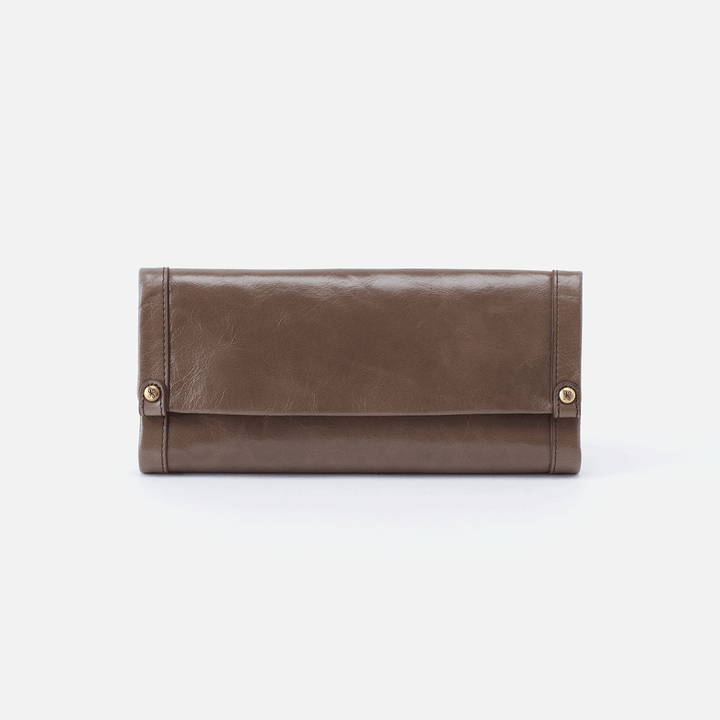 Fable Grey Leather Large Wallet