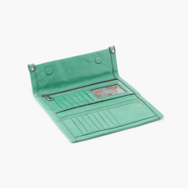 Fable Light Green Leather Large Wallet