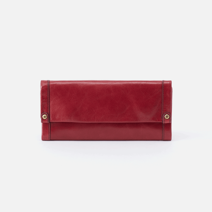 Fable Red Leather Large Wallet