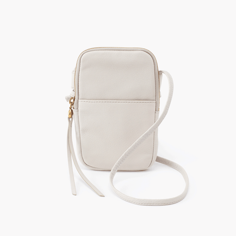 Fate White Leather Small Crossbody