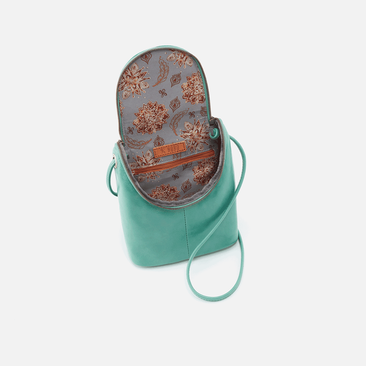 Fern Seafoam Leather Crossbody