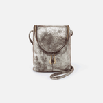 Fern Silver Leather Crossbody
