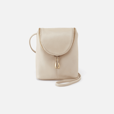 Fern Sandshell Leather Crossbody