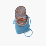 Fern Blue Leather Small Crossbody