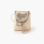 Fern Gold Leather Small Crossbody