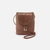 Fern Metallic Brown Leather Small Crossbody