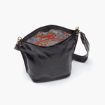 Flare Black Leather Shoulder Bag