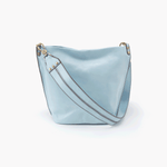 Flare Blue Leather Shoulder Bag