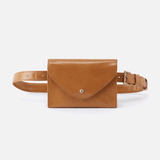 Forte Cognac Brown Leather Belt Bag
