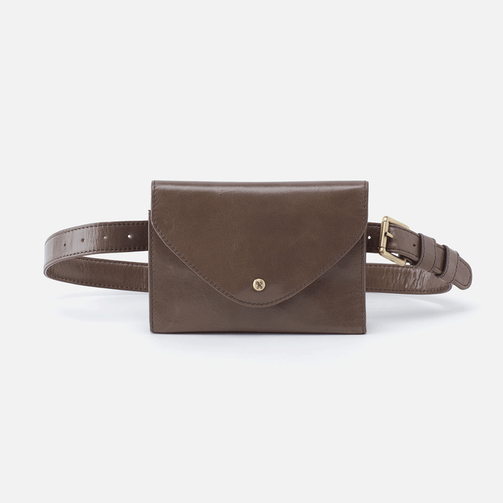 Forte Grey Leather Belt Bag
