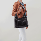 Fortune Black Leather Shoulder Bag