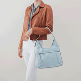 Fortune Blue Leather Shoulder Bag
