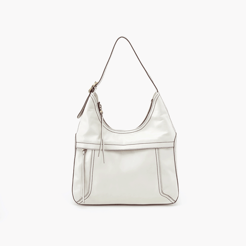 Fortune White Leather Shoulder Bag