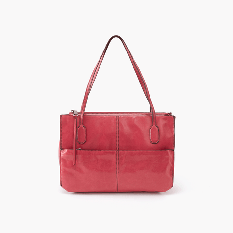 Friar Pink Leather Satchel