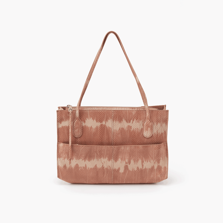 Friar Print Leather Satchel