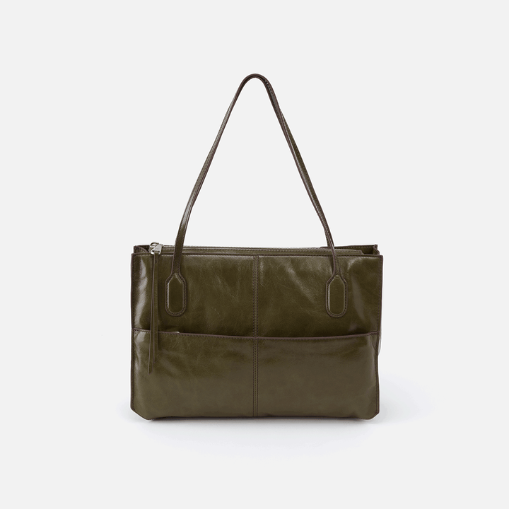 Friar Green Leather Shoulder Bag