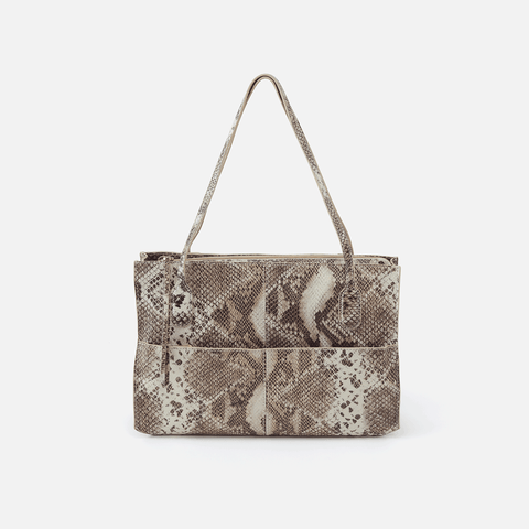 Friar Print Leather Shoulder Bag