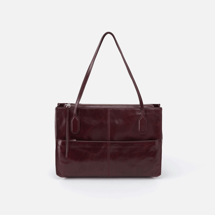 Friar Purple Leather Shoulder Bag