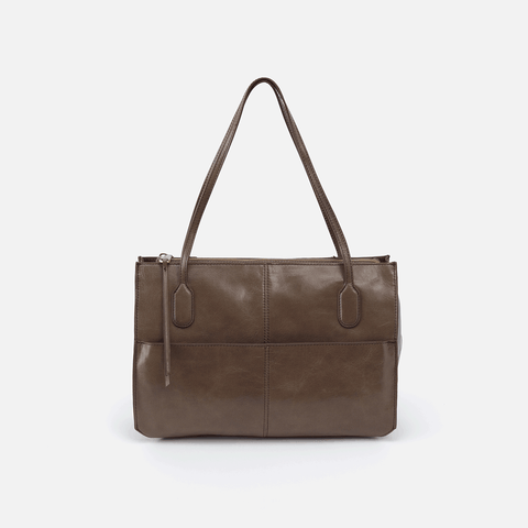 Friar Grey Leather Satchel