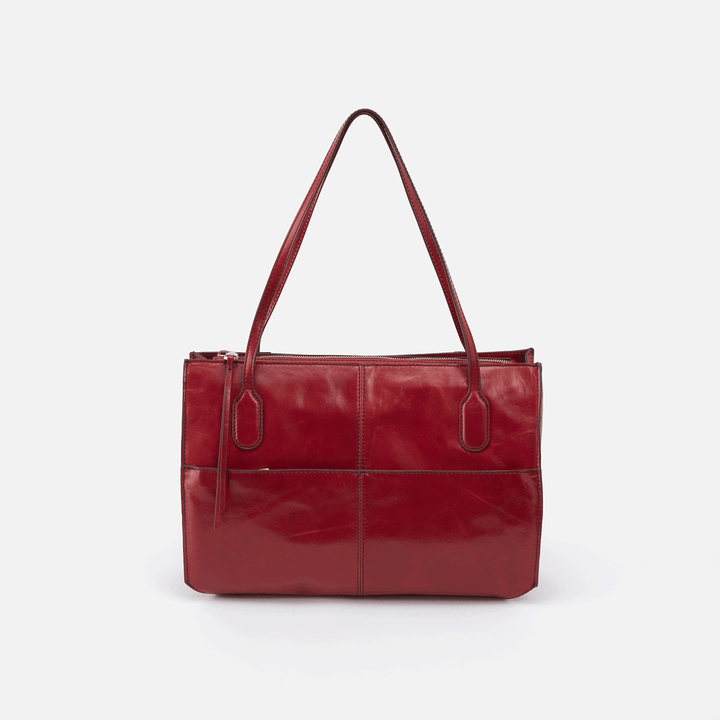 Friar Red Leather Satchel