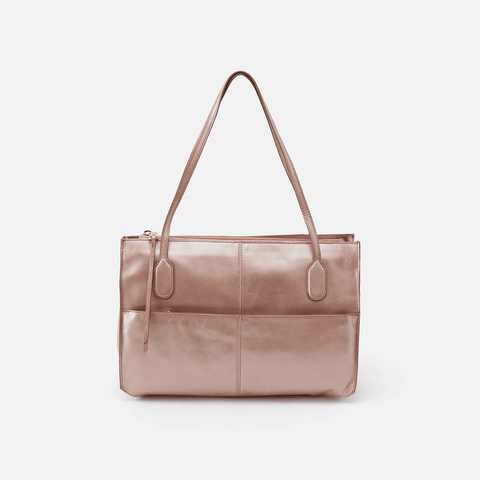 Friar Rose Gold Leather Satchel