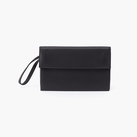Fuse Black Leather Wristlet