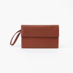Fuse Brown Leather Wristlet