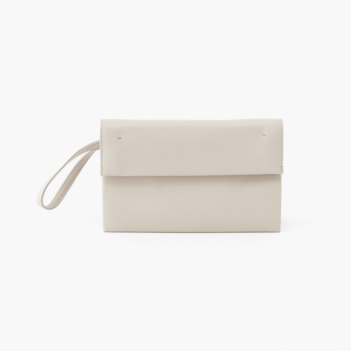 Fuse White Leather Wristlet