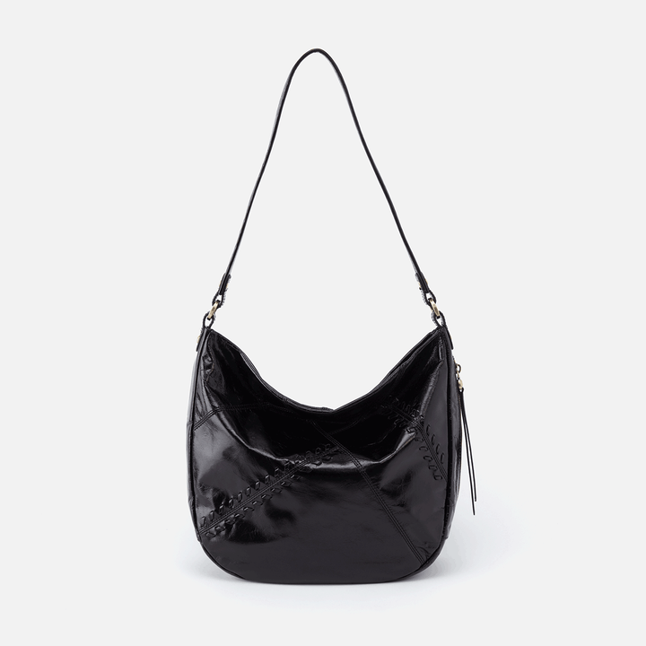 Garner Black Leather Shoulder Bag