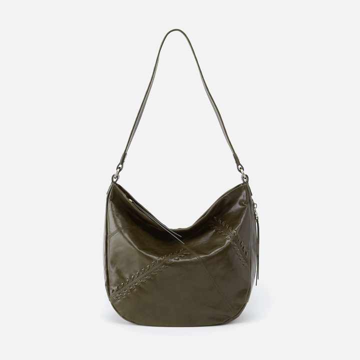 Garner Green Leather Shoulder Bag