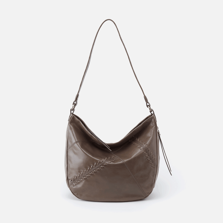 Garner Grey Leather Shoulder Bag